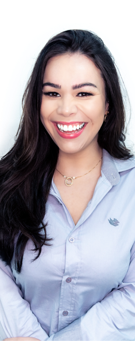 America's Credit Union has staff that are financial experts image of smiling young woman with dark long hair and blue shirt
