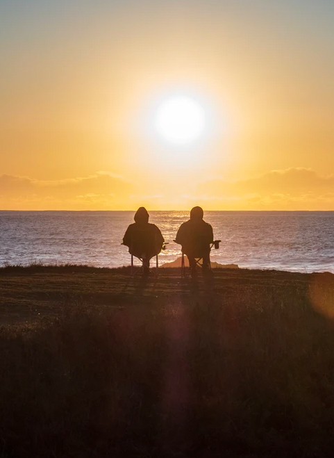 save for the future with a cd from america's credit union couple watching sunset