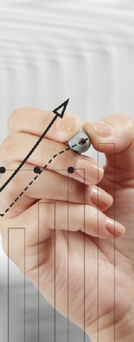 hand drawing graph chart and business strategy as concept trim