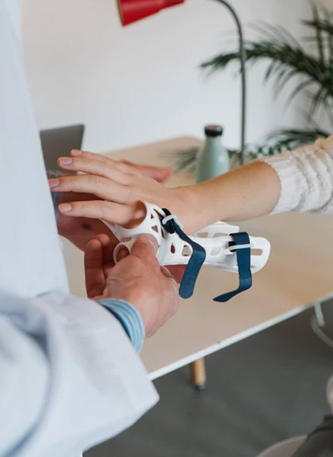 an hsa or health savings account from america's credit union has your medical needs covered woman getting finger splint